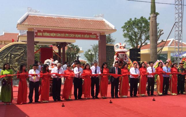Khu tưởng niệm căn cứ lõm cách mạng B1 Hồng Phước được xây dựng từ tháng 3-2017.