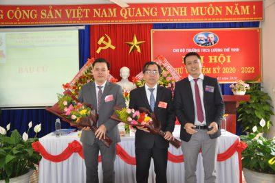 ĐẠI HỘI CHI BỘ TRƯỜNG THCS LƯƠNG THẾ VINH LẦN THỨ V, NHIỆM KỲ 2020-2022